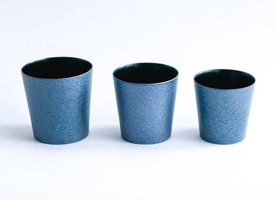 【送料無料】うつろいカップ3点セット クールブラック~浅田漆器のモダン食器~