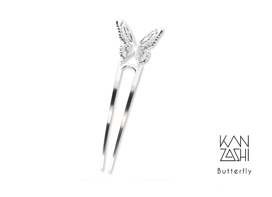 三代目板金屋 デザインKANZASHI~Butterfly Lady かんざし