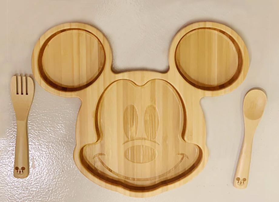 【出産祝いにおすすめ!】『ディズニー』とコラボ♪ミッキーマウスフェイスプレートセット 名入れ可