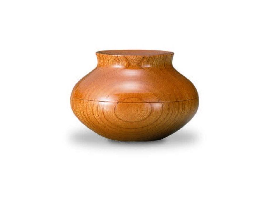 おしゃれな木製小物入れ【我戸幹男商店】TURARI 蓋物 壺~山中漆器の小物入れ~