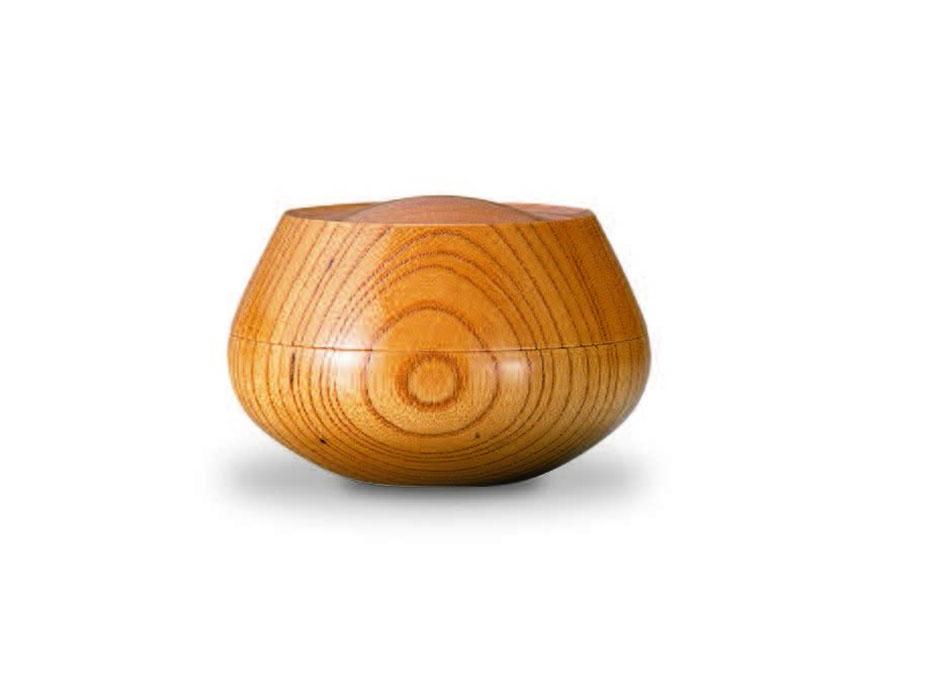 おしゃれな木製小物入れ【我戸幹男商店】TURARI 蓋物 蕾~山中漆器の小物入れ~