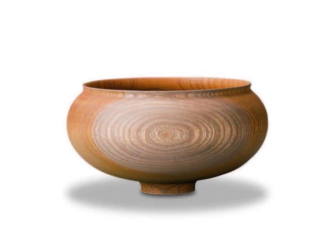 おしゃれな木製高台【我戸幹男商店】AEKA Object Round M~山中漆器の器~