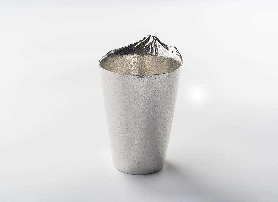 【男性への贈り物におすすめ】錫製ビールグラス 泡雲 ~高岡銅器の錫製酒器~