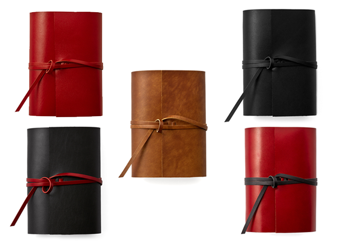 mini6穴紐巻きレザーシステム手帳~上質な牛本革を一枚革で巻く贅沢なシステム手帳~ 名入れ可
