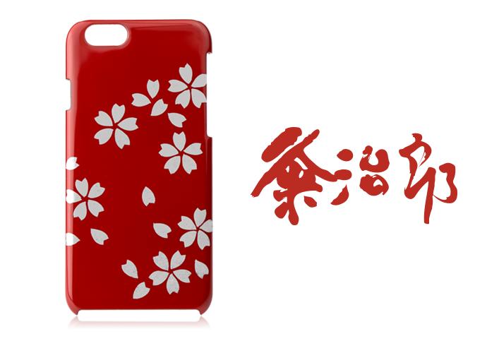漆のiPhoneケース【桜花爛漫】(蒔絵仕様) 名入れ対応