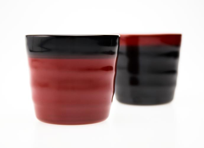 越前漆器の夫婦セット かすみのペアカップ(焼酎・お茶用)
