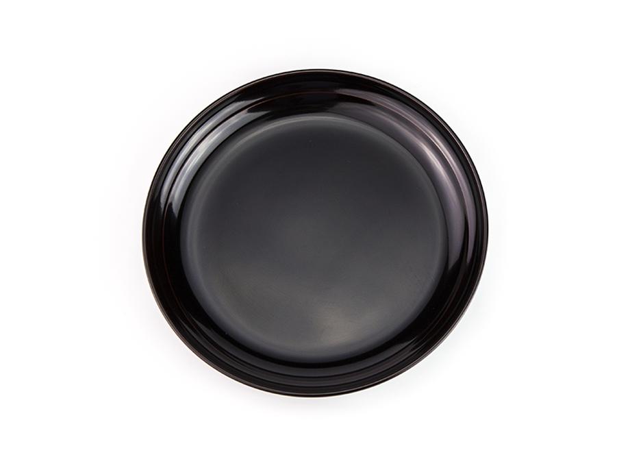 【越前漆器】越路 銘々皿セット 5.0 溜め塗り[5枚]~名入れ可~ 直径15センチ