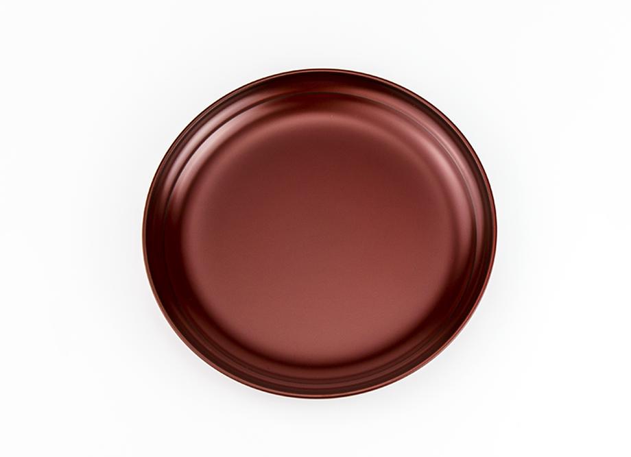 【越前漆器】越路 銘々皿セット 5.0 吟朱[5枚]~名入れ可~ 直径15センチ