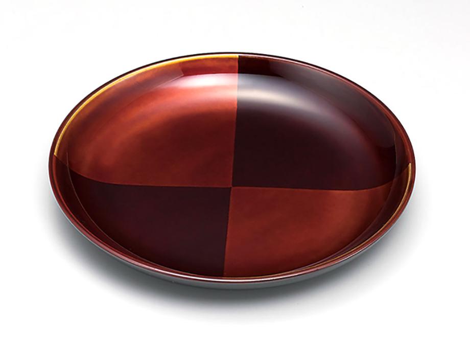 【お正月は特別な1日】新年を彩る高級食器でプチ贅沢を楽しもう 手描き蒔絵・消し蒔絵 市松白檀 銘々皿5枚セット