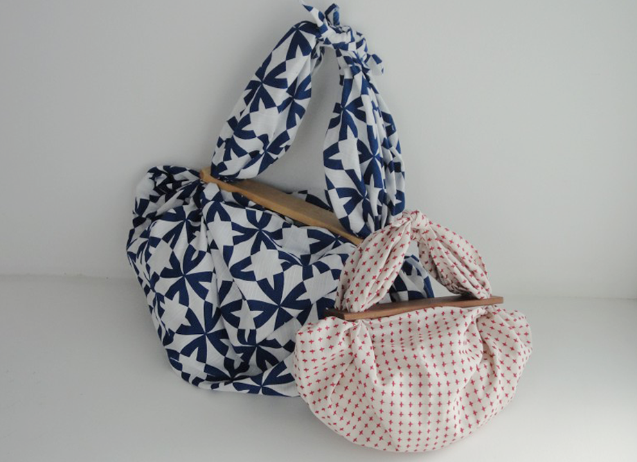 風呂敷のアレンジに最適!フロシキパッチンミニ 風呂敷が簡単にバッグに変身!日本製便利グッズ