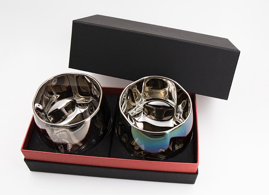 企業ノベルティにおすすめ ジュエリーグラス PROGRESS(SunFlyサンフライ)高級チタンロックグラス・Crown Series(名入れ可能)