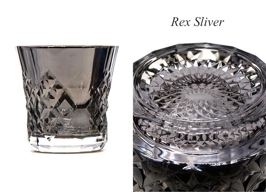 【男性への贈り物に人気】ジュエリーロックグラス PROGRESS(SunFly)高級チタングラス・Rex Series シルバー