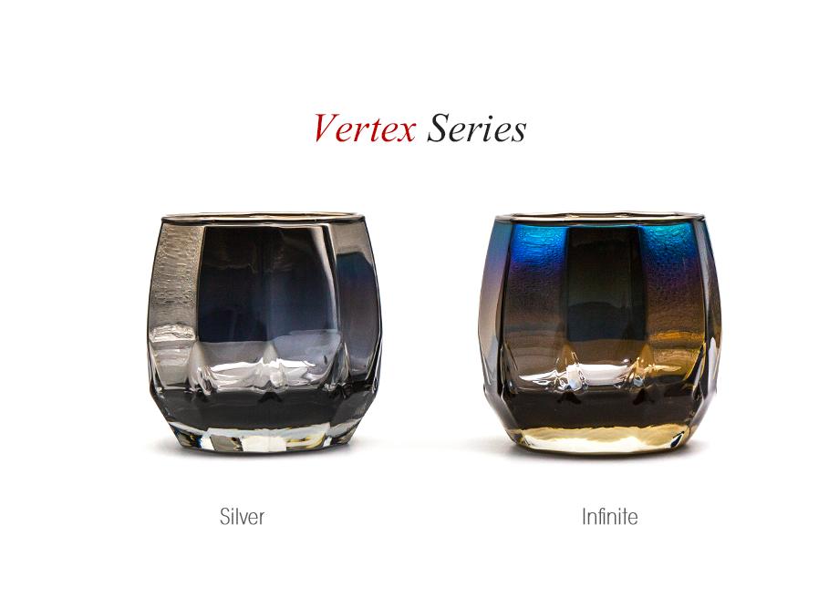 【男性への贈り物に人気】ジュエリーグラス PROGRESS(SunFly)高級チタングラス・Vertex Series(名入れ可能)