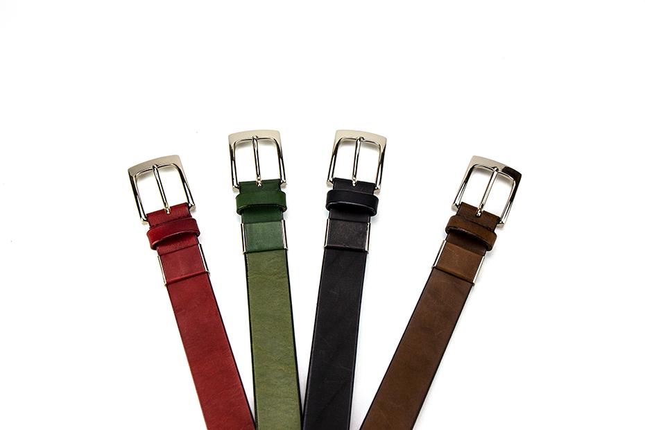 プレゼントにおすすめ!30㎜男女兼用プレーン革ベルト Mサイズ~上質な日本製革小物~ 名入れ可 4種類からお選び頂けます