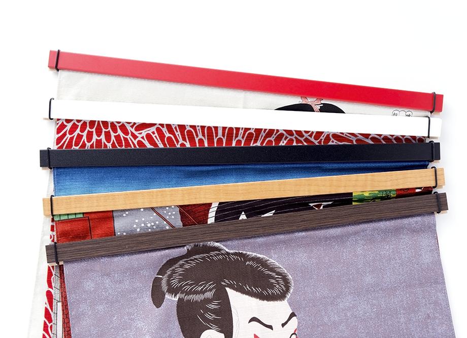 【壁掛け風呂敷におすすめ】日本製 小風呂敷用 木製タペスタリー棒 ~職人の手仕事 カラーは5色
