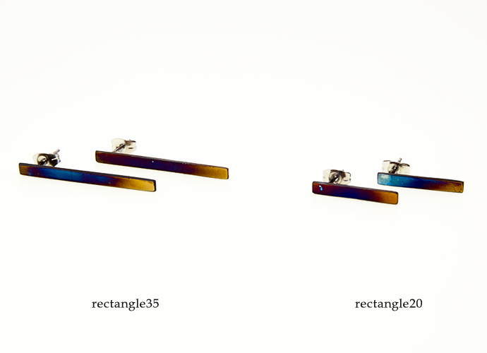 SUS texture jewelry magic hour ピアスrectangle 種類