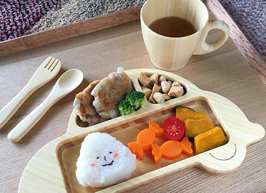 funfam 日本製竹食器♪車プレートセット
